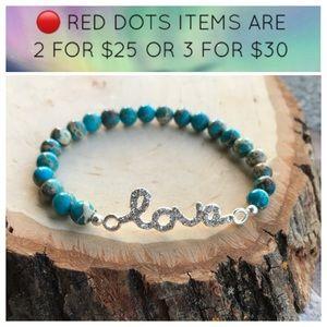 🔴SALE ! Love blue sea jasper valentine bracelet